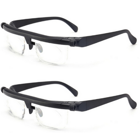Adjustable Reading Glasses (2 pack)