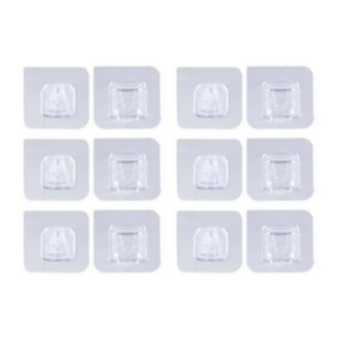 (12 Pack) Double-Sided Adhesive Wall Hooks