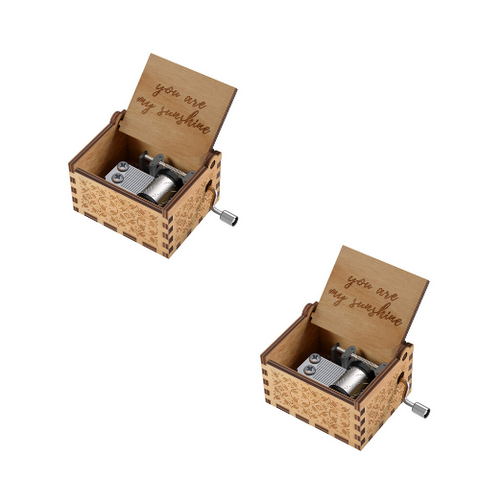 Wooden Music Box (2 Pack)