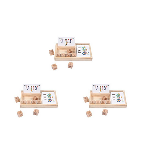 wooden spelling game (3 Pack)