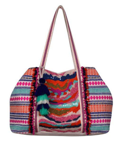 965faeac820f4a Multi Color Beaded Oversized Tote. $88.00. Rose All Day Straw Tote