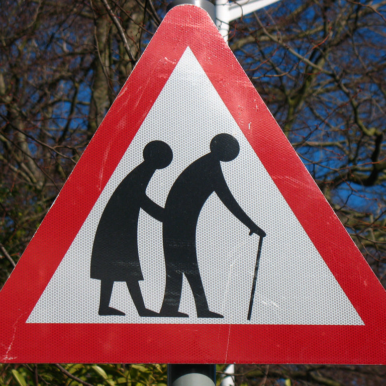 Elderly road sign