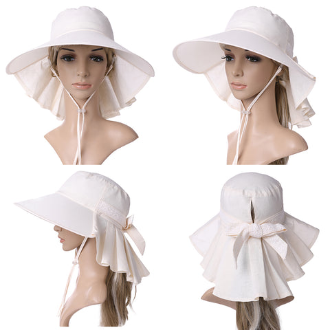 6068a05bba8 CM99001 UV Protection Sun Hats Packable Summer Hat Women w/Ponytail Chin  Strap 55-