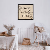 Cuadro decorativo Family First  3
