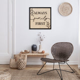 Cuadro Decorativo Family First 5