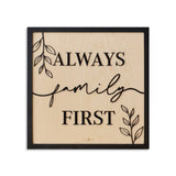 Cuadro decorativo Family First