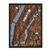 Cuadro Decorativo Mapa New York