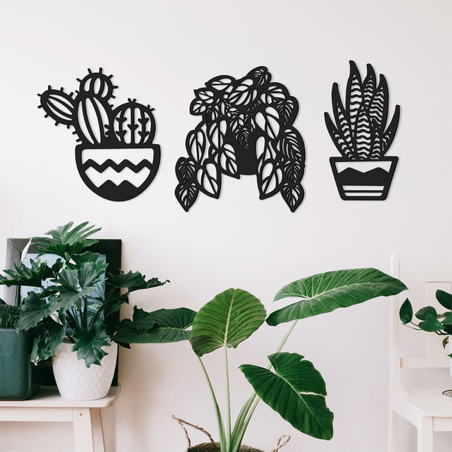 Cuadros decorativos de pared Odun Arts Plantas