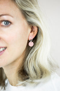 Porcelain Flamingo Pink Earrings