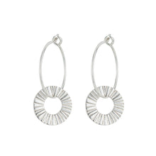 Load image into Gallery viewer, Silver Surfside Hoop Earrings