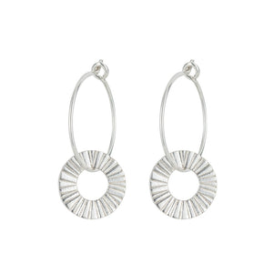 Silver Surfside Hoop Earrings