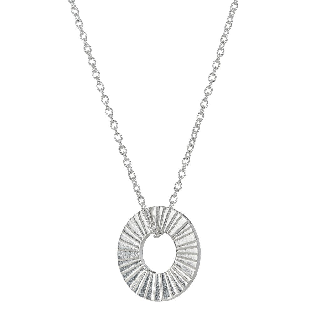 Silver Surfside Hoop Necklace
