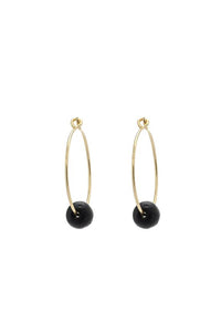 Black SeaGlass Hoops