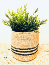 Load image into Gallery viewer, Stripy Jute Plant Pot