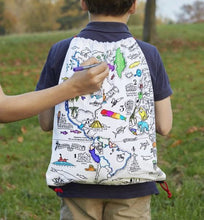Load image into Gallery viewer, World Map Doodle BackPack