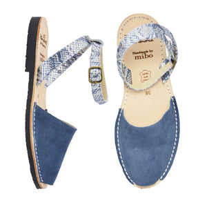 Blue Suede Ankle Strap