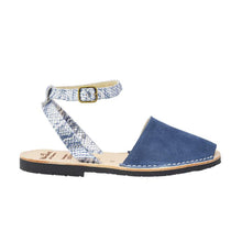 Load image into Gallery viewer, Blue Suede Ankle Strap