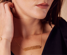 Load image into Gallery viewer, Lace Rectangle Minimalist Necklace