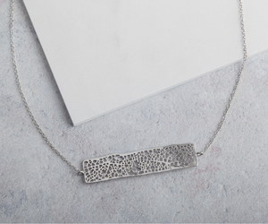 Lace Rectangle Minimalist Necklace