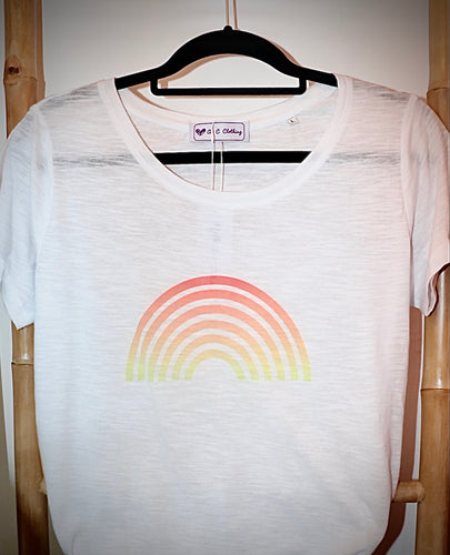 Orange Rainbow T Shirt