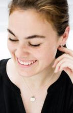 Load image into Gallery viewer, Silver Raindrop Stud Earrings