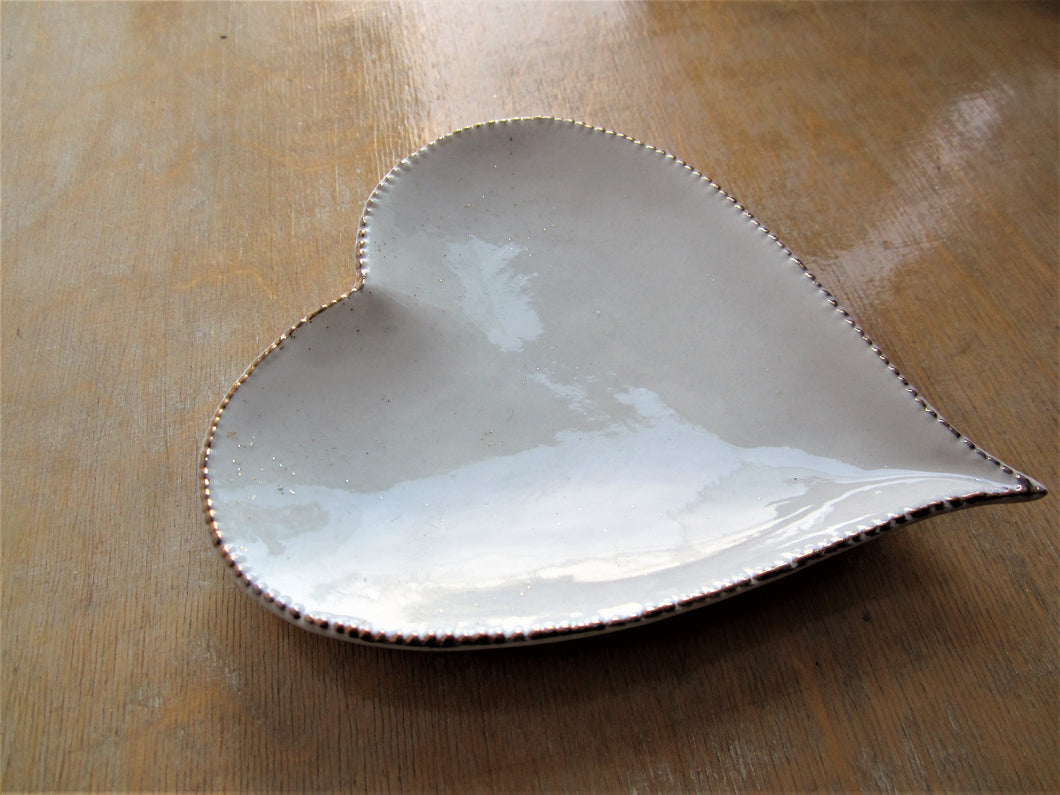 Gold Edged Heart Bowls