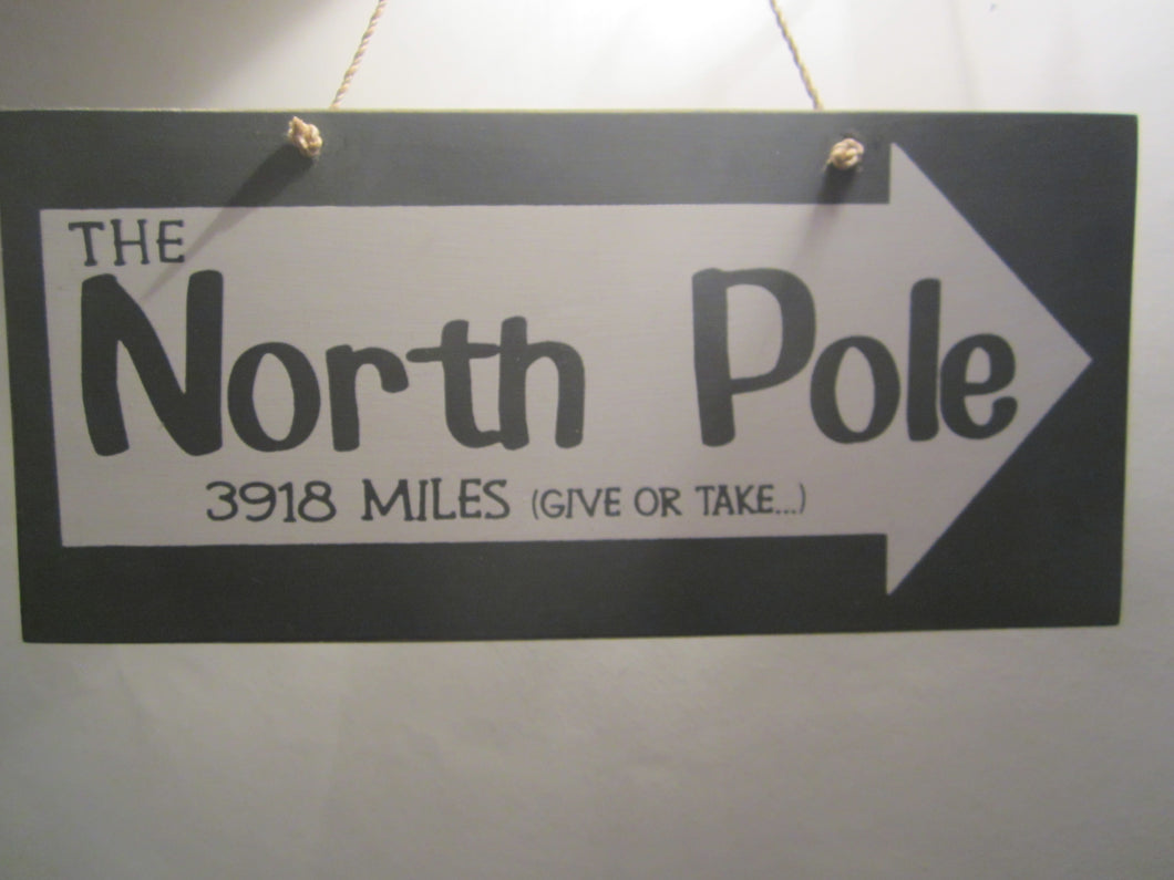 North Pole Plaque