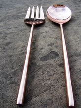 Load image into Gallery viewer, Rose Gold Salad Servers