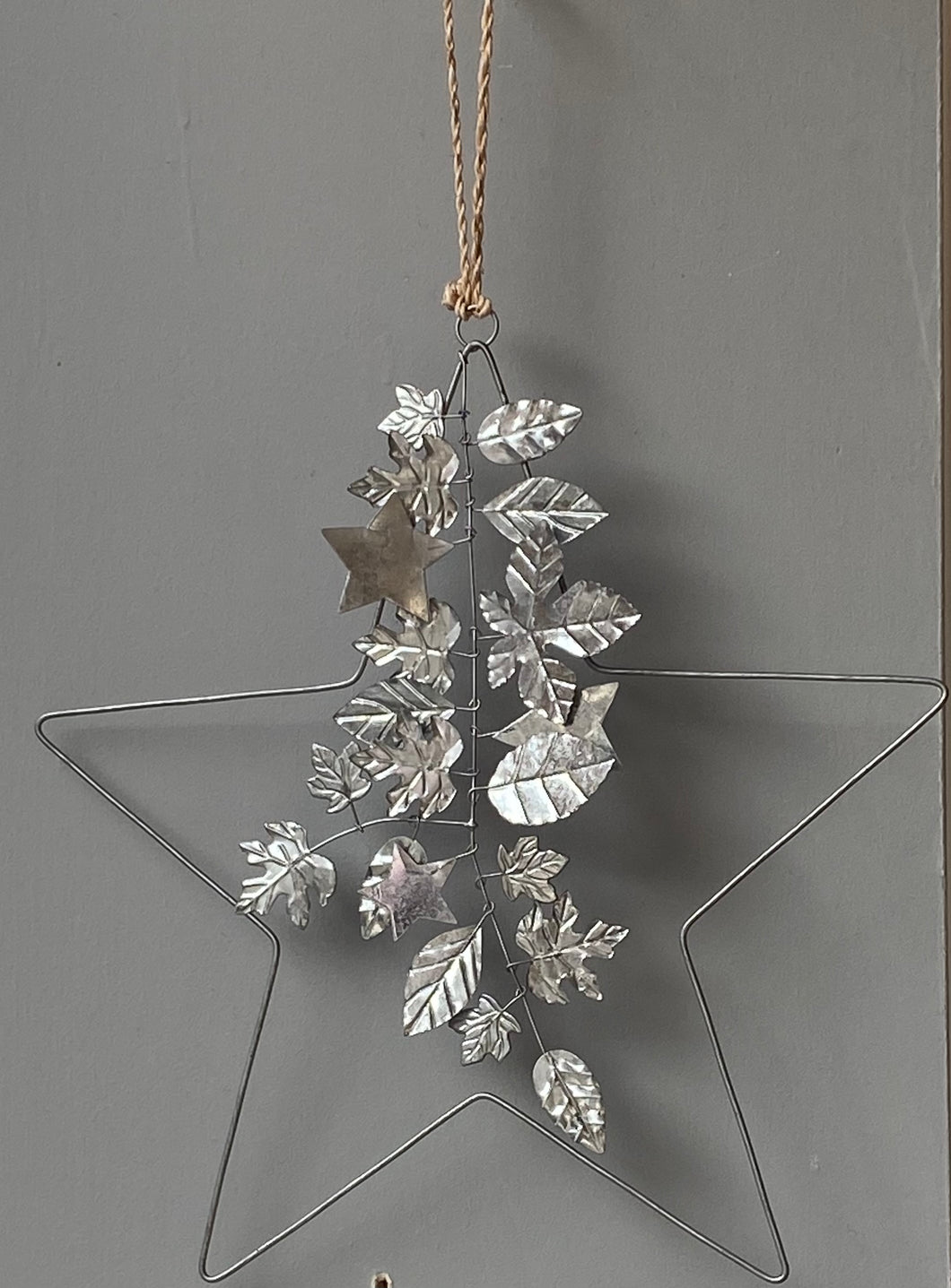 Decorated Silver Star Wreath