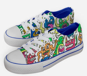 Monsters Meeting Colour In Shoes
