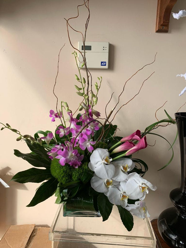 GLW126 - ASSORTED ORCHIDS, CALLAS, HYDRANGEAS AND LUSH GREENERY