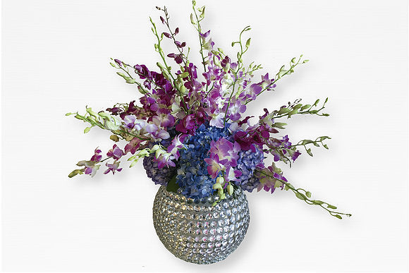 GLW019 - ORCHIDS MIX (Ball Vase)