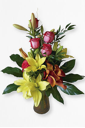 GLW024 - LILIES CALLAS AND ROSES