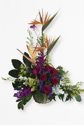 GLW029 - EXOTIC FLOWERS BASKET