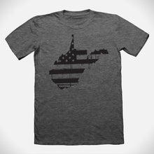 Load image into Gallery viewer, West Virginia Distressed Flag T-Shirt