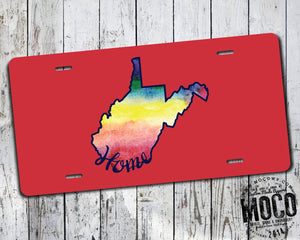 West Virginia Home Watercolor License Plate
