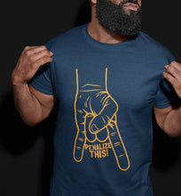 Load image into Gallery viewer, Penalize This T-Shirt (BLUE & GOLD)