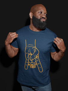 Penalize This T-Shirt (BLUE & GOLD)