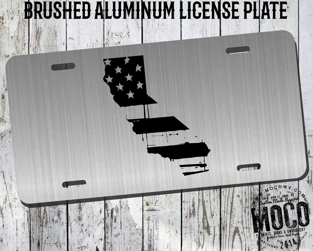 California Distressed Flag License Plate