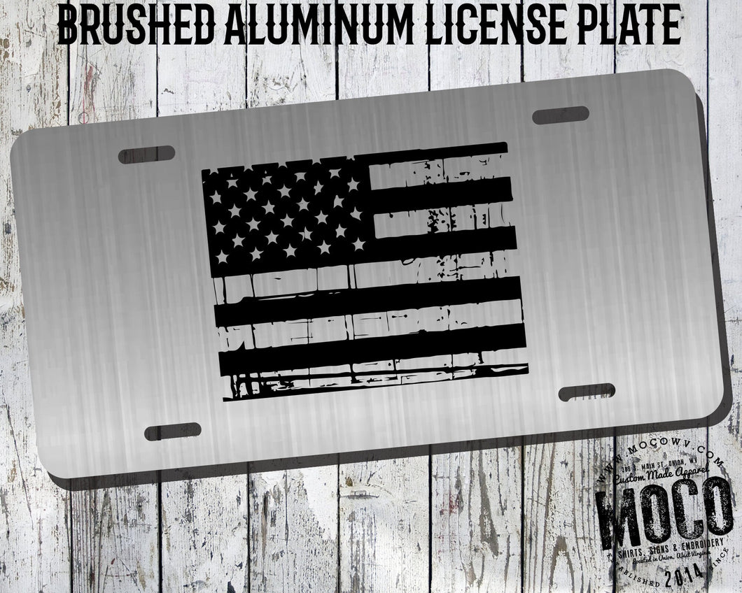 Colorado Distressed Flag License Plate