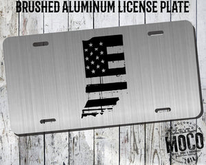 Indiana Distressed Flag License Plate