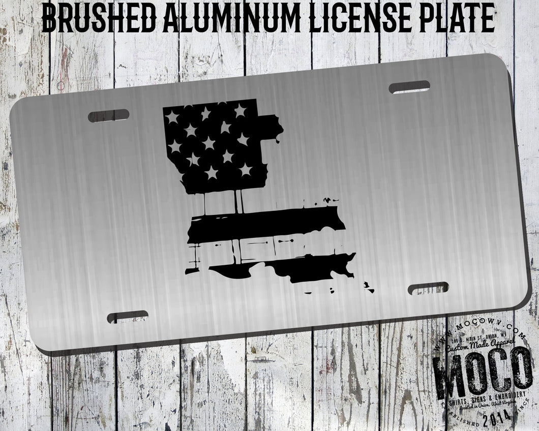 Louisiana Distressed Flag License Plate
