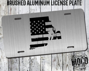 Rhode Island Distressed Flag License Plate
