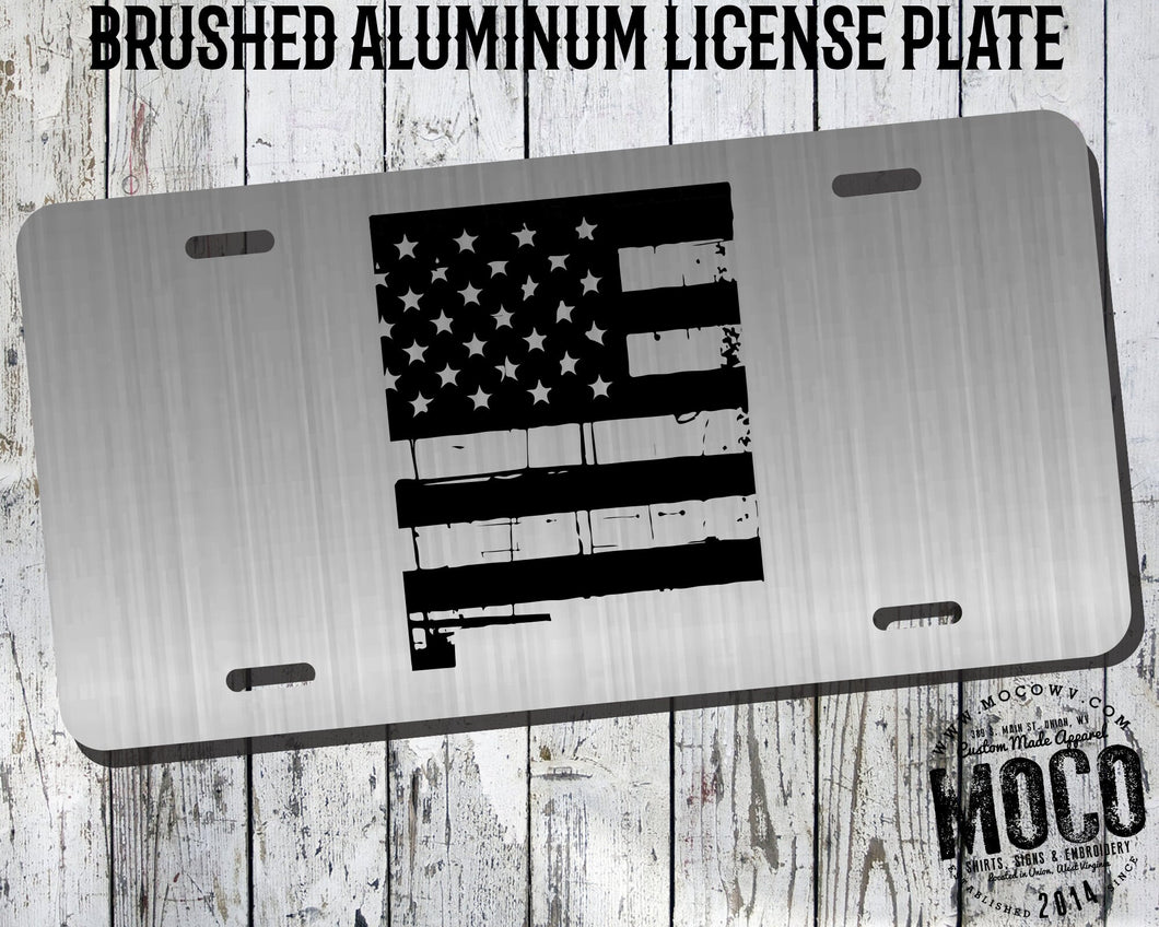 New Mexico Distressed Flag License Plate