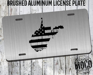 West Virginia Distressed Flag License Plate