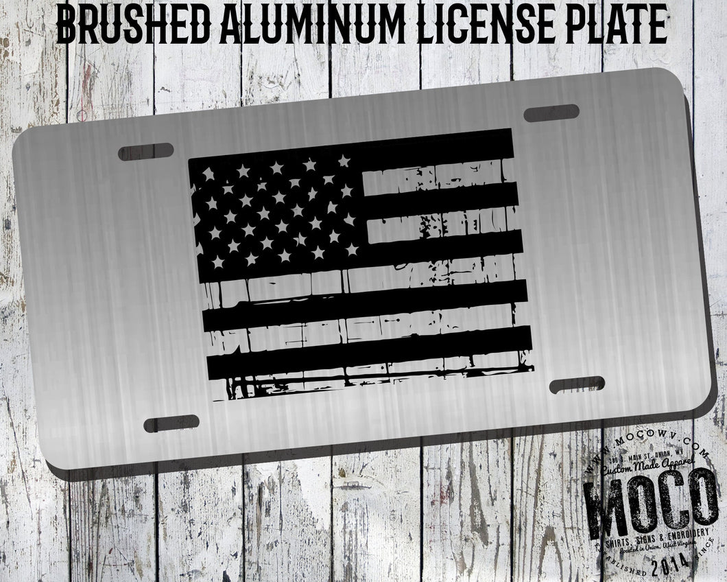 Wyoming Distressed Flag License Plate