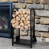 Amagabeli Fireplace Screen with Doors Bundle Firewood Rack Fireplace Tool-Fireplace bundle-Amagabeli