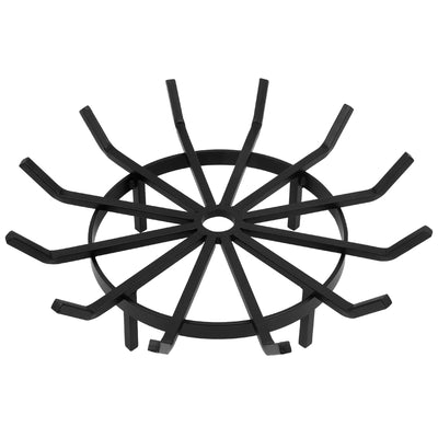 Amagabeli 24in Fire Grate Log Grate Wrought Iron Round Wagon Firewood Grates 0.7in-Fireplace Grate-Amagabeli