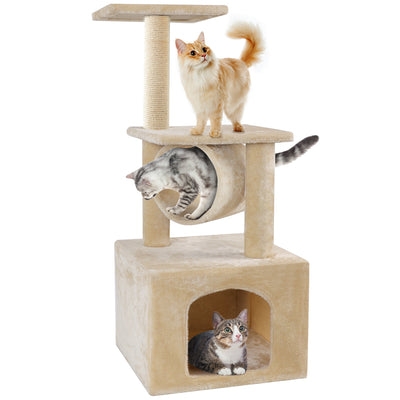 BEAU JARDIN 36 Inch Cat Tree Condo Furniture Scratcher-Pet Supplies-Amagabeli