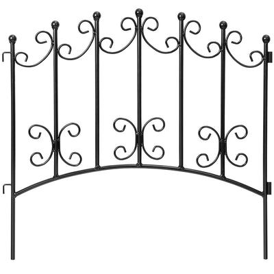 Amagabeli Rustproof Garden Fencing 24inx10ft Decorative Metal Fence-Decorative Fences-Amagabeli